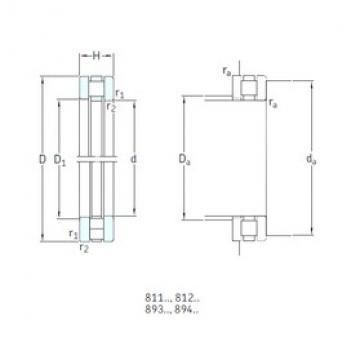 80 mm x 170 mm x 18 mm  SKF 89416M thrust roller bearings