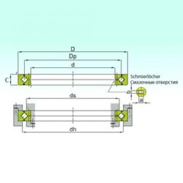 110 mm x 135 mm x 12 mm  ISB RE 11012 thrust roller bearings