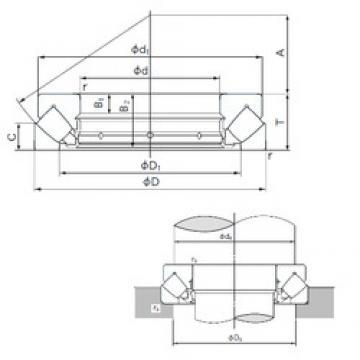 150 mm x 215 mm x 14 mm  NACHI 29230E thrust roller bearings