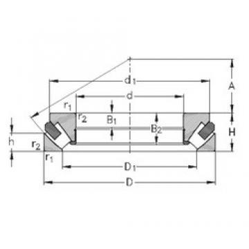 60 mm x 130 mm x 28 mm  NKE 29412-M thrust roller bearings