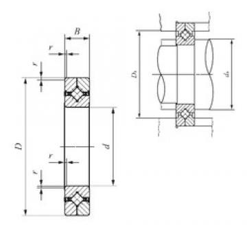 200 mm x 260 mm x 25 mm  IKO CRBC 20025 UU thrust roller bearings