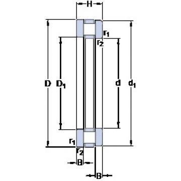 630 mm x 750 mm x 28.5 mm  SKF 811/630 M thrust roller bearings