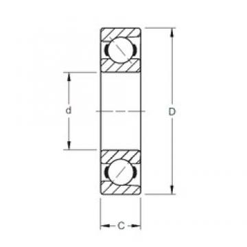 45 mm x 100 mm x 25 mm  Timken 7309WN angular contact ball bearings