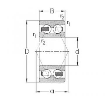 15 mm x 42 mm x 19 mm  NKE 3302-B-TV angular contact ball bearings