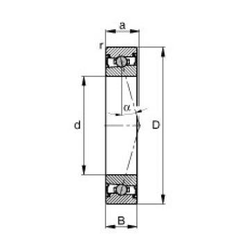 35 mm x 55 mm x 10 mm  FAG HCS71907-C-T-P4S angular contact ball bearings