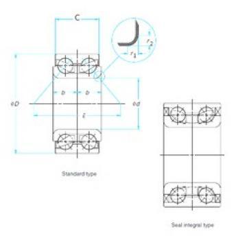 38 mm x 73 mm x 40 mm  NTN DE08A48LLCS46PX1 angular contact ball bearings