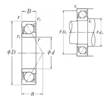 30 mm x 72 mm x 19 mm  NSK 7306 B angular contact ball bearings