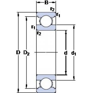 85 mm x 150 mm x 28 mm  SKF 6217/HC5C3 deep groove ball bearings