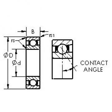 AST 71944AC angular contact ball bearings